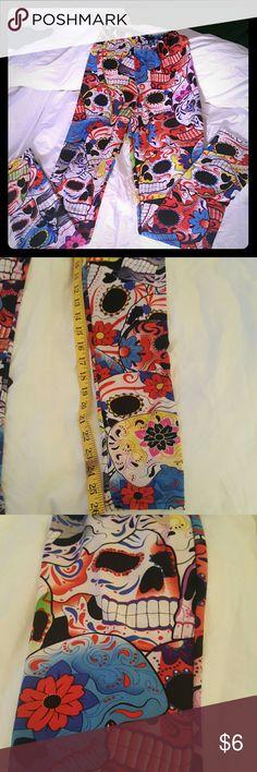 CLOSETCHIQ CALAVERAS PRINT TIGHTS CLOSETCHIQ CALAVERAS PRINT TIGHTS ..multi colored CLOSETCHIQ  Pants Leggings