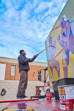 Mural Art, Murals, Truck Art, Spanish Artists, Mural Ideas, Street Artists, Graffiti Art, Pop Art, Art Projects