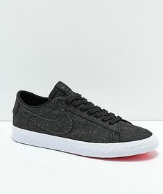 best sneakers 00fd0 4db27 Nike SB Blazer Low Deconstructed Anthracite Canvas Skate Shoes