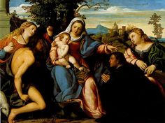 "[Renaissance] Palma Vecchio--""Madonna and Child with Saints"""