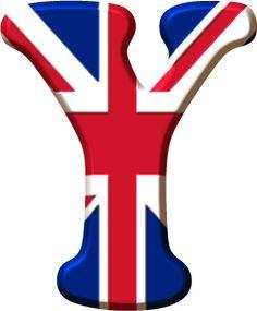 Union Jack letter Y Alphabet Letters Design, Graffiti Alphabet, Alphabet And Numbers, Letter Art, English Festivals, Union Jack Decor, English Day, London Party, Union Flags