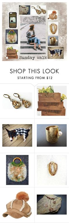 """""""Sunday Walk: Fashion Gifts in Neutral"""" by paulinemcewen on Polyvore featuring Tela Beauty Organics, rustic and country"""