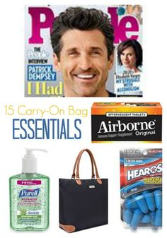 15 Carry-On Bag Essentials by Six Sisters' Stuff  #15, #Airplane, #Bag, #Carry, #CarryOn, #Essentials, #ON, #Other, #Tips, #Travel, #Tricks