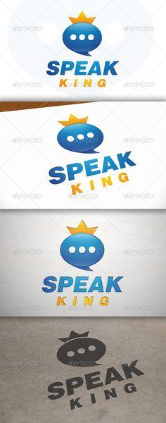 Speak King - Logo Design Template Vector #logotype Download it here: http://graphicriver.net/item/speak-king-logo/7011227?s_rank=1355?ref=nexion