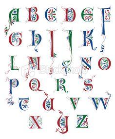 Alphabet Medieval Heraldic