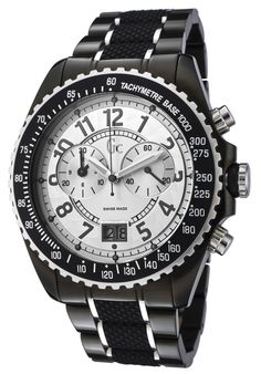 Guess Watch Women's Chronograph Silver Dial Two Toneand Black Rubber NICE! Watches For Men, Women's Watches, Smell Good, Black Rubber, Casio Watch, Chronograph, Jewels, My Style, Watch Women