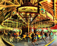 port dalhousie carousel - a place to take my little one when Bryan is working on Azura in port