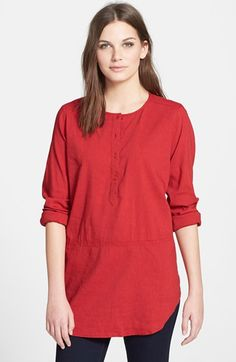 Eileen Fisher Linen Blend Henley Tunic available at #Nordstrom