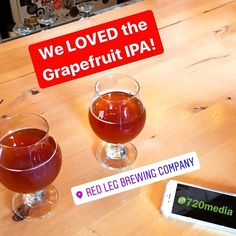 "We enjoyed this fabulous #craftbeer in Colorado Springs at a web design client's brewery. This Grapefruit #IPA really stands out! They tapped it yesterday and I believe there should still be a little left today (fingers crossed). Kevin said ""Best #citrus IPA i've ever had."" So there you have it.... swing by this #localbusiness to try some! # . . #veteranowned #coloradosprings #cosprings #locallyowned #brewery #lovewhereyoulive #clientlove #720media #webdesign #socialmediamarketing"