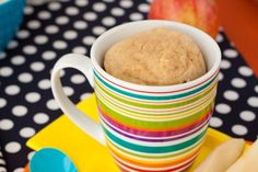 HEALTHIFIED PEANUT BUTTER MUG CAKE (Picture is not mine!) Ingredients 1 heaping tablespoon oat flour (Or wheat flour) 1 egg white 1/2 teaspoon baking powder 1 tablespoon brown sugar 2 tablespoons of peanut butter 1 teaspoon cinnamon 1/2 teaspoon vanilla extract Directions Mix all dry ingredients in a bowl Add in wet ingredients and stir til blended Spray a mug with cooking spray and pour in batter Stick in the microwave for one minute. Bam! Mug cake. Super tasty treat, num num.