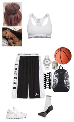 """""""basketball wit bae"""" by anjelicswag ❤ liked on Polyvore featuring Calvin Klein, Calvin Klein Underwear, NIKE, Rolex, CellPowerCases and Sprayground"""