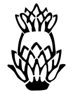 Original Pineapple  Stencil. Please do not resell my stencils, they are original artwork, but use them for whatever you want personally.