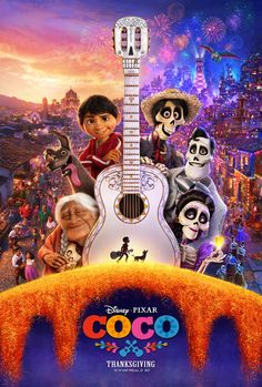 玩轉極樂園|Coco|109min/2017 |#LeeUnkric   #AdrianMolina   #JasonKatz   #AnthonyGonzalez |#Animation, Adventure, Comedy   #USA   #Movie   #Poster