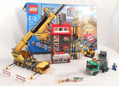 LEGO City 7633 Construction Site Town Minifigure Set With Instructions Complete #LEGO #constructionsite