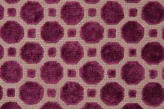 Robert Allen Velvet Geo Upholstery Fabric in Magenta $31.95 per yard