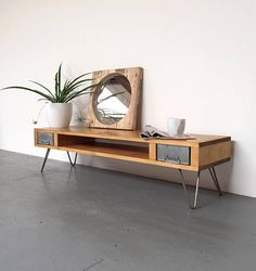Cabot laag Mid eeuw stijl Side Table Coffee Table TVs met