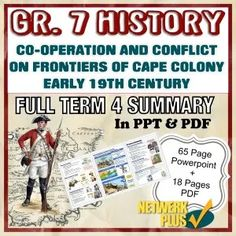 Grade 7 History - Term Co-operation and conflict in Cape Colony - PPT + PDF Summary in English - Teacha! Visual Learning, Fun Learning, Cape Colony, Class Presentation, Social Science, Comprehension, Summary, Teaching Resources, South Africa