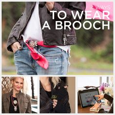 Today I'm inspired to spice up my wardrobe by sharing 4 Ways To Wear a Brooch…