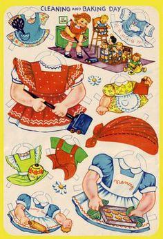 Paper Dolls 5 Bonecas de Papel: boneca