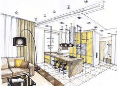 """Choointeriors on Instagram: """"#интерьер #дизайнинтерьера #декор #эскиз #дизайнпроект #sketch #interior #interiordesign #дом #графика #дизайн #эскизинтерьера…"""""""
