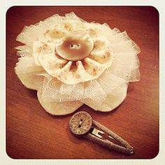 Tulle and fabric hairpin instructions