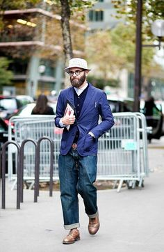 To know more about LAVENHAM love style, visit Sumally, a social network that gathers together all the wanted things in the world! Moda Vintage, Cool Style, My Style, Sharp Dressed Man, Men Looks, Stylish Men, Denim Fashion, Models, Work Wear