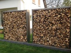 You want to build a outdoor firewood rack? Here is a some firewood storage and creative firewood rack ideas for outdoors. Outdoor Firewood Rack, Firewood Storage, Outdoor Projects, Garden Projects, Outside Living, Outdoor Living, Gabion Wall, Wood Shed, Backyard Garden Design