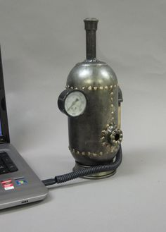 Steampunk Boiler External Drives (via The Steam Emporium on Etsy)