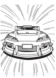 the car in to fear in a race coloring pages