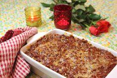 Vegetarische lasagne met mozzarella, spinazie en snijbiet