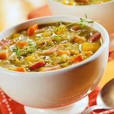 Split Pea and Veggie Soup Loaded with carrots, ham, and split peas ...