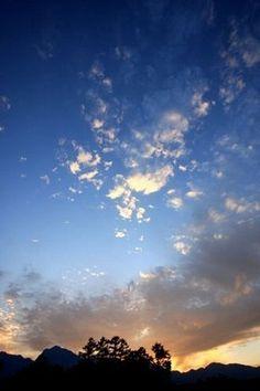 sunset 大きい空に夕焼け