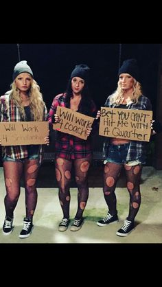 DIY homeless Halloween costume                                                                                                                                                     More