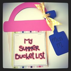"""Draw your own bucket on the beach.  Title it """"My Summer Bucket List"""".  Write phrases of things you want to do this summer.  Make 2 categories - """"Reality"""" and """"Just Dreaming!""""  :)"""
