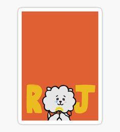 BTS - RJ, By Jin Pegatina Bts Wallpaper Desktop, Hippie Wallpaper, Verses Wallpaper, Printable Stickers, Cute Stickers, Korean Stationery, Pop Characters, Bts Chibi, Bts Lockscreen
