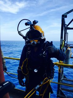 Offshore diving in the Gulf of Mexico.