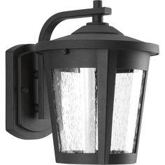 Progress Lighting East Haven Collection 1-Light Black LED Wall Lantern-P6078-3130K9 - The Home Depot