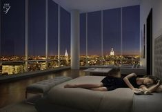 Two-story penthouse at becomes the most expensive condo ever sold in New York City New York Penthouse, Duplex New York, Luxury Penthouse, New York City Apartment, Penthouse Apartment, Dream Apartment, City Apartments, Apartment Goals, Apartment Ideas