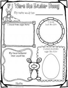 """FREE LANGUAGE ARTS LESSON – """"If I Were the Easter Bunny Freebie"""" - Go to The Best of Teacher Entrepreneurs for this and hundreds of free lessons. - Learn how I made it to in one months with Easter Art, Hoppy Easter, Easter Bunny, Easter Ideas, Easter Decor, Easter Eggs, Easter Activities For Kids, Spring Activities, Holiday Activities"""