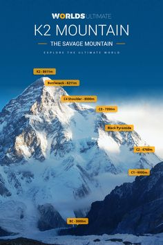 Highest in Pakistan and Mountain High Elevation in the World. Height: Peak elevation from sea level ft. Mountain Climbing, Rock Climbing, Pakistan Travel, Landscape Photography Tips, Mountain Landscape, Mountaineering, Bergen, Trekking, Places To Visit