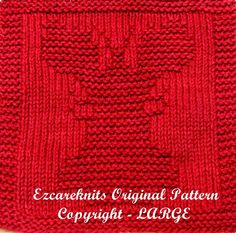 Knitting Cloth Pattern  LARGE LOBSTER  PDF by ezcareknits on Etsy