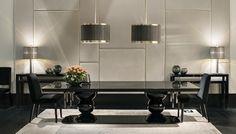Elixio Network - Fendi Casa Releases Fashionable Home Furnishings for Fall 2015 Luxury Dining Room, Beautiful Dining Rooms, Dining Room Design, Luxury Living, Fendi, Autumn Home, Beautiful Interiors, Home Furnishings, Furniture Design