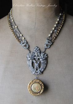 An English TailorVintage Assemblage Rhinestone by ChristineWallace