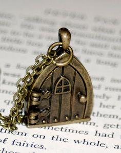 Fairy Door Locket Necklace by thebookishlife on Etsy, $20.00