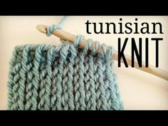 How to crochet Tunisian Knit Stitch (TKS) - Tunisian Crochet - YouTube