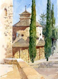 CapellaSantNicolau by Shari Blaukopf Beautiful Watercolor technique