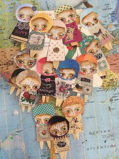 Susana Tavares: Mini people notebook cover + journal