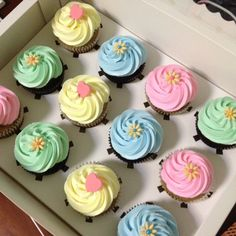 Pastel Cupcakes by Erica