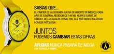 Aún estamos a tiempo, juntos contra el cáncer. #SaveTheWorld #Queretaro