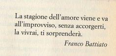 Franco Battiato, La stagione dell'amore.